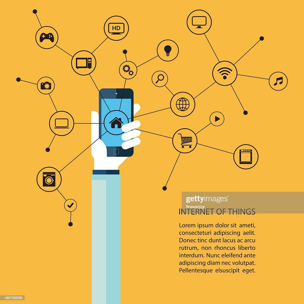 Internet of things concept.
