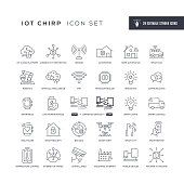 Internet of Things Editable Stroke Line Icons