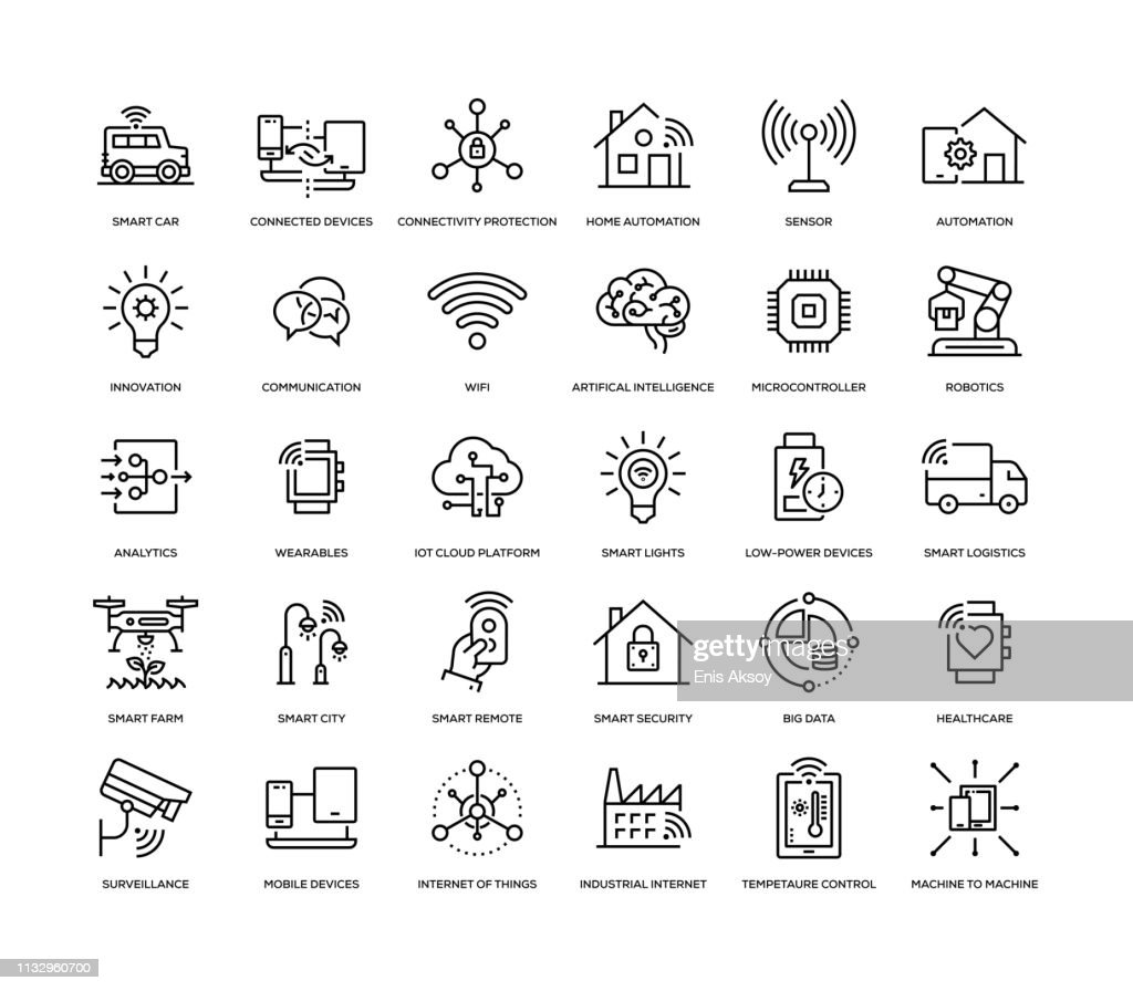 Internet of Things Icon Set : Stock Illustration