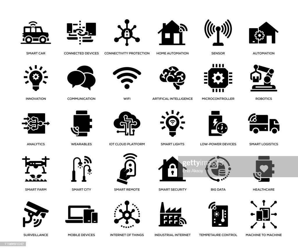 Internet der Dinge Icon Set : Stock-Illustration