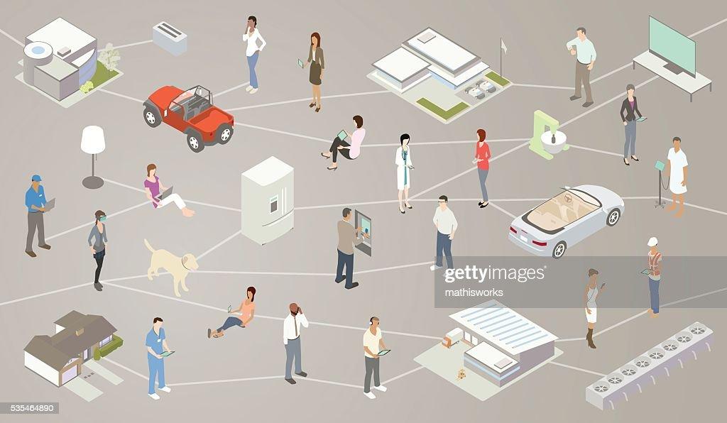 Internet of Things IOT Illustration : stock illustration