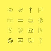 Internet Of Things linear icon set. Simple outline icons