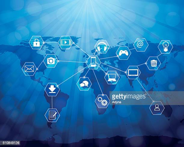 internet of things (iot) - surrounding stock illustrations, clip art, cartoons, & icons