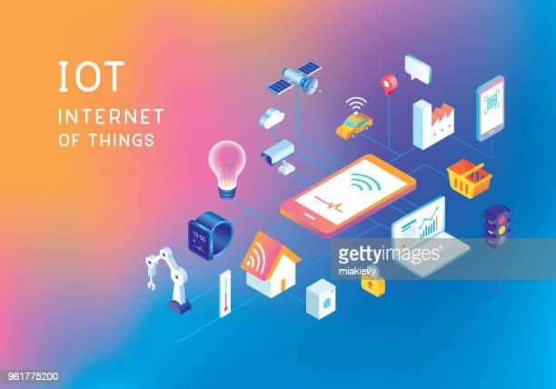 internet of things - security camera stock illustrations
