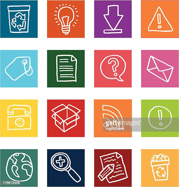 internet related flat icon set - the_writer's_block stock illustrations