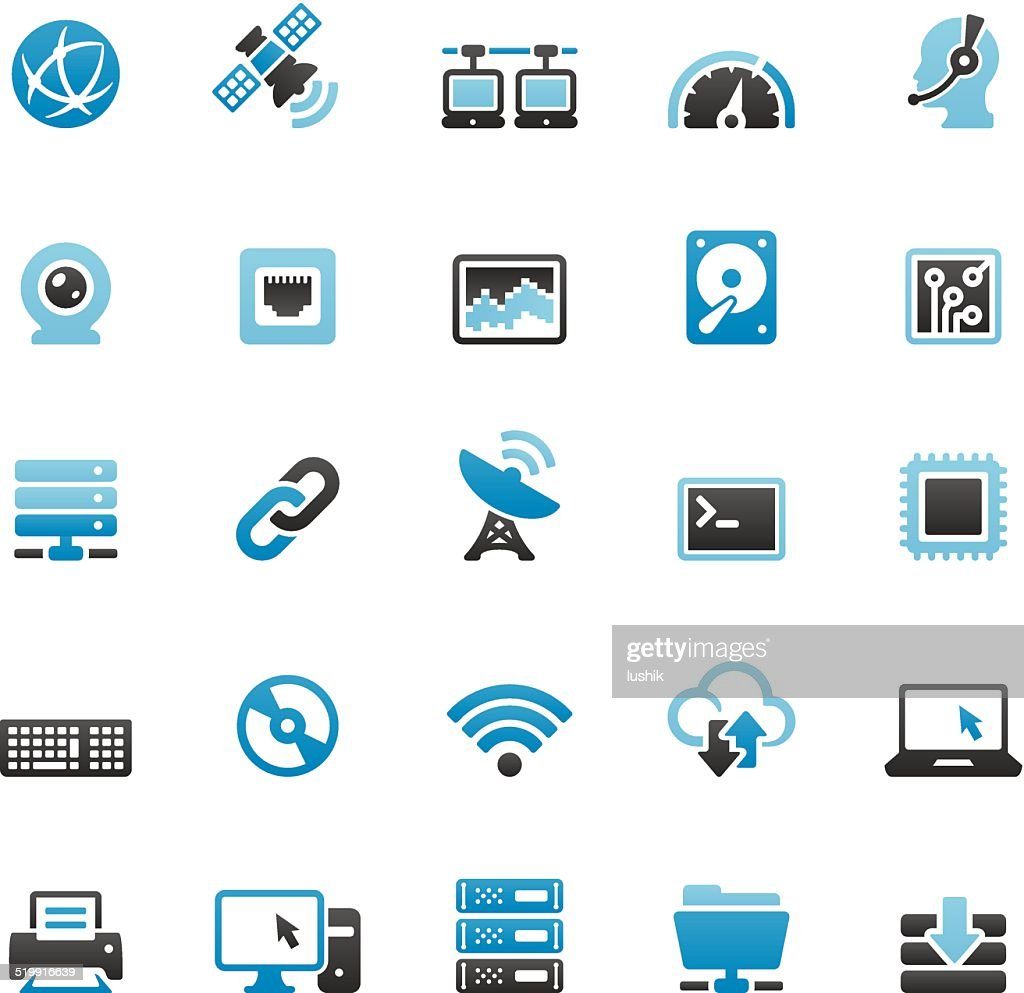 Internet related vector icons set : stock illustration