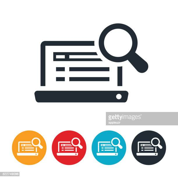 internet search icon - searching stock illustrations