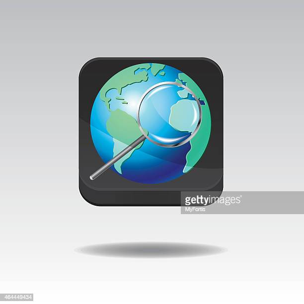 3D Internet Searching Button