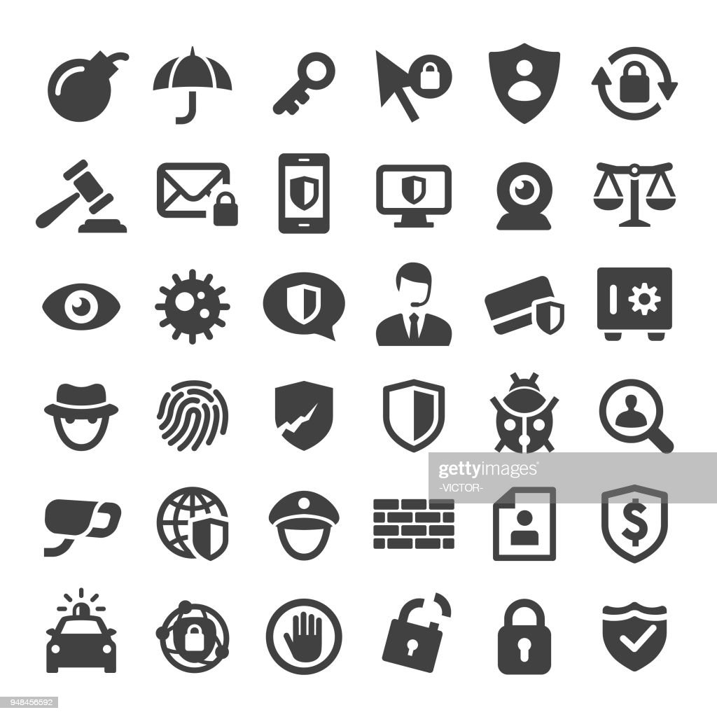 Internet Security and Privacy Icons - Big Series
