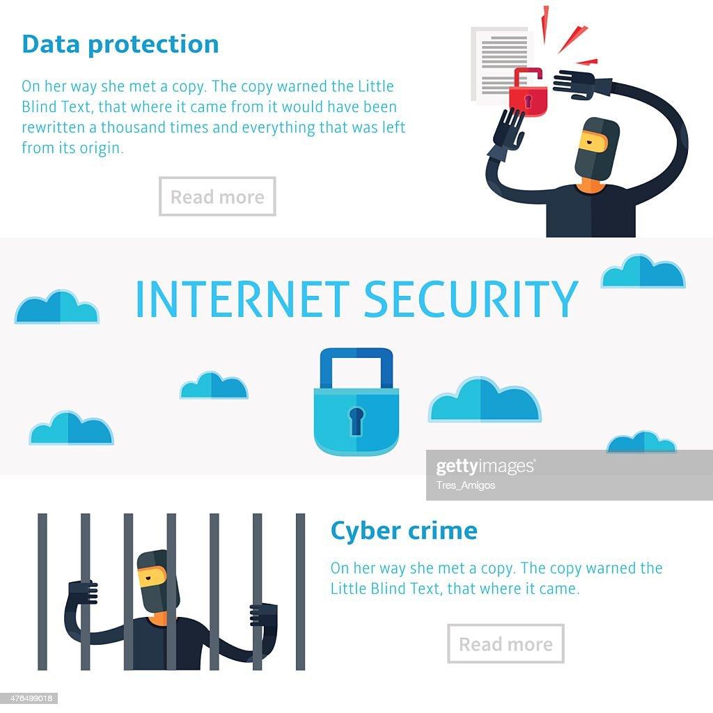 Internet security concept vector illustration