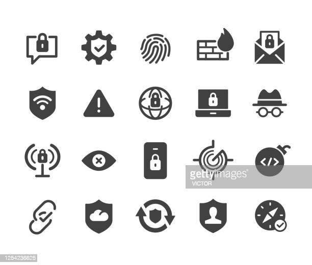 インターネットセキュリティアイコン - クラシックシリーズ - 迷惑メール点のイラスト素材/クリップアート素材/マンガ素材/アイコン素材