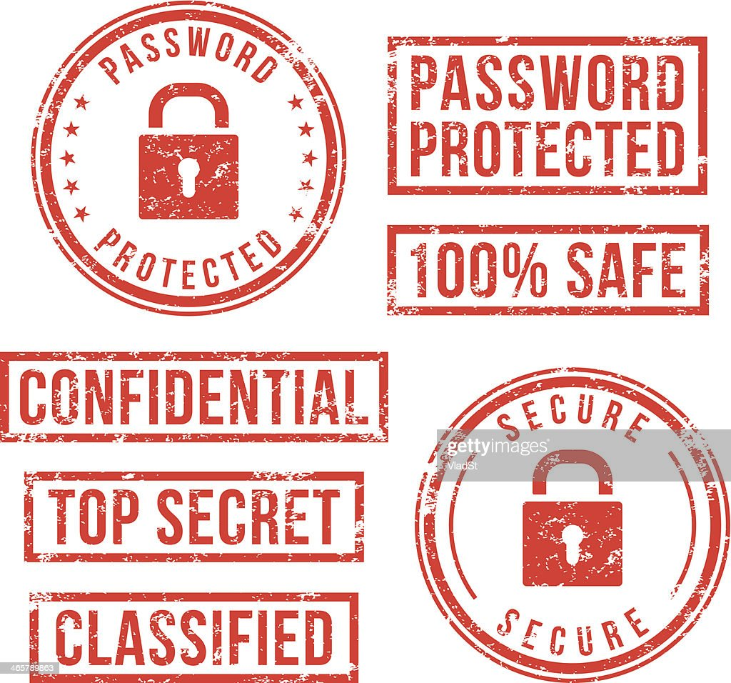 Internet security - rubber stamps : stock illustration