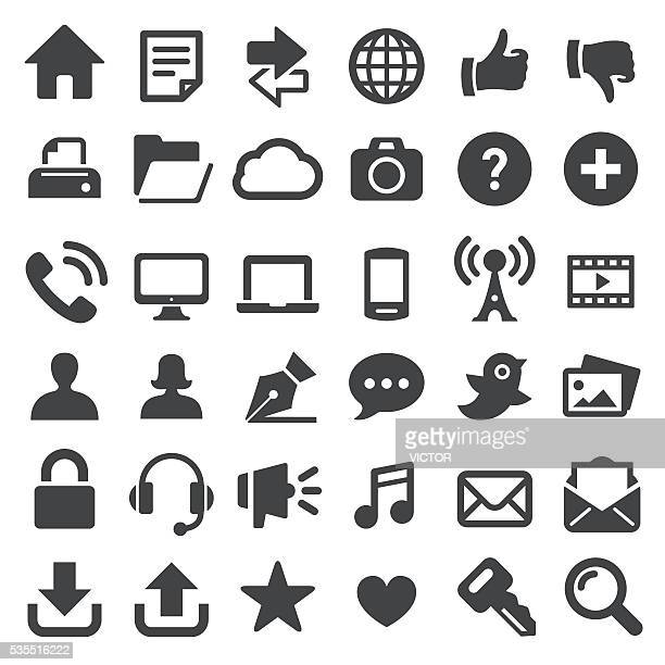 internet technology icons - big series - text messaging stock illustrations, clip art, cartoons, & icons