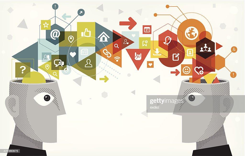 Internet technology sharing : stock illustration