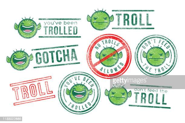 internet troll bot rubber stamps - naughty america stock illustrations, clip art, cartoons, & icons