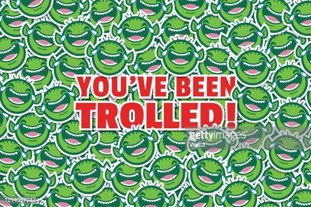 internet troll online mocking lol funny prank joke background - naughty america stock illustrations