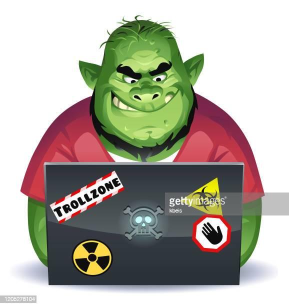 ilustrações de stock, clip art, desenhos animados e ícones de internet troll - cyberbullying