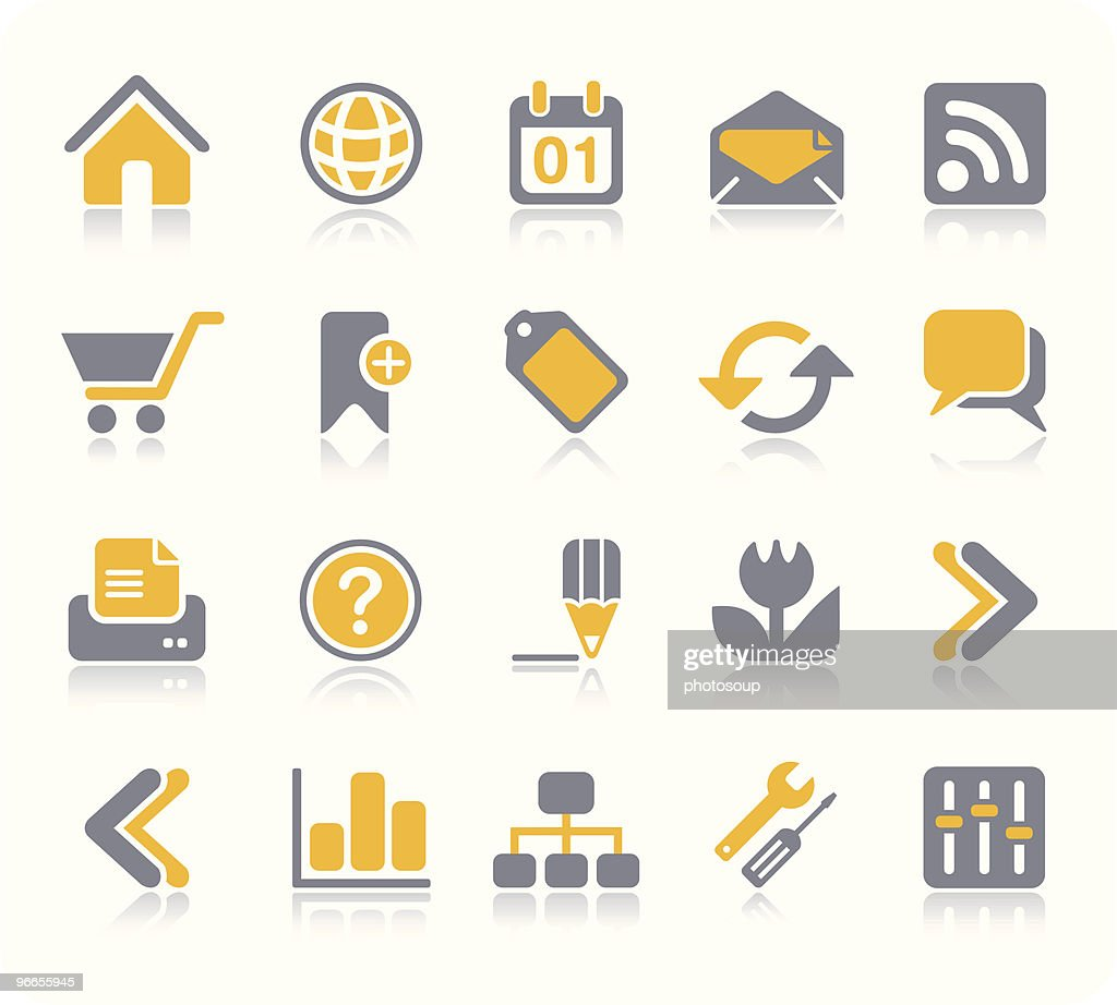 Internet & Web icon set | Vitamin series