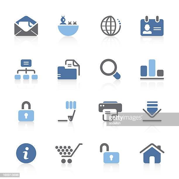 ilustraciones, imágenes clip art, dibujos animados e iconos de stock de internet & web iconos (nueva versión de la serie)/azur - tarjeta de archivo