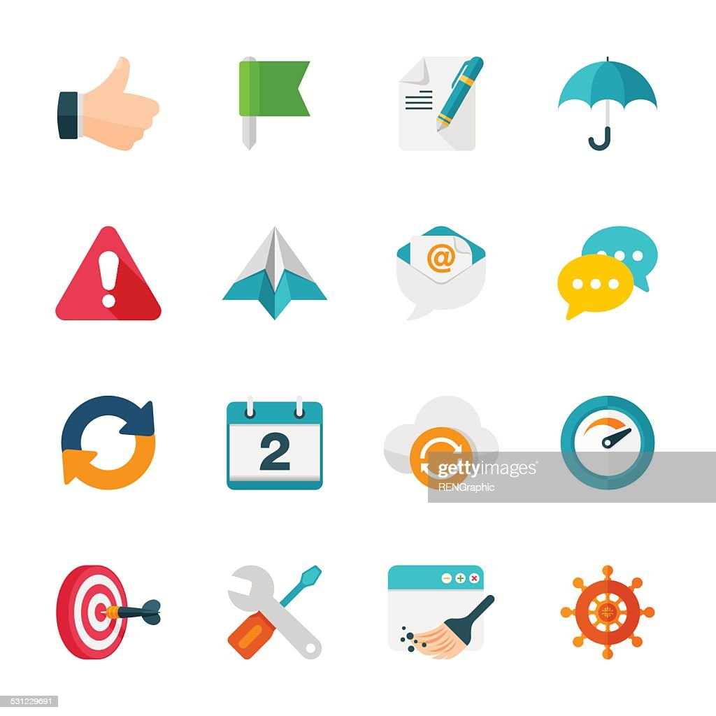 Internet & Web Set | Flat Design Icons