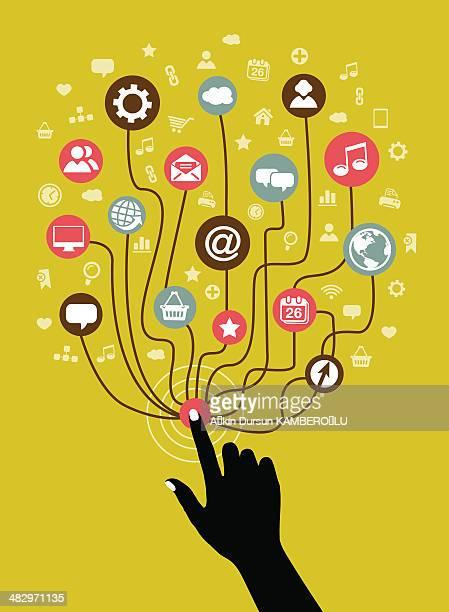 internet-concept - sociology stock illustrations, clip art, cartoons, & icons