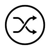 Intersection Arrows icon - vector iconic design