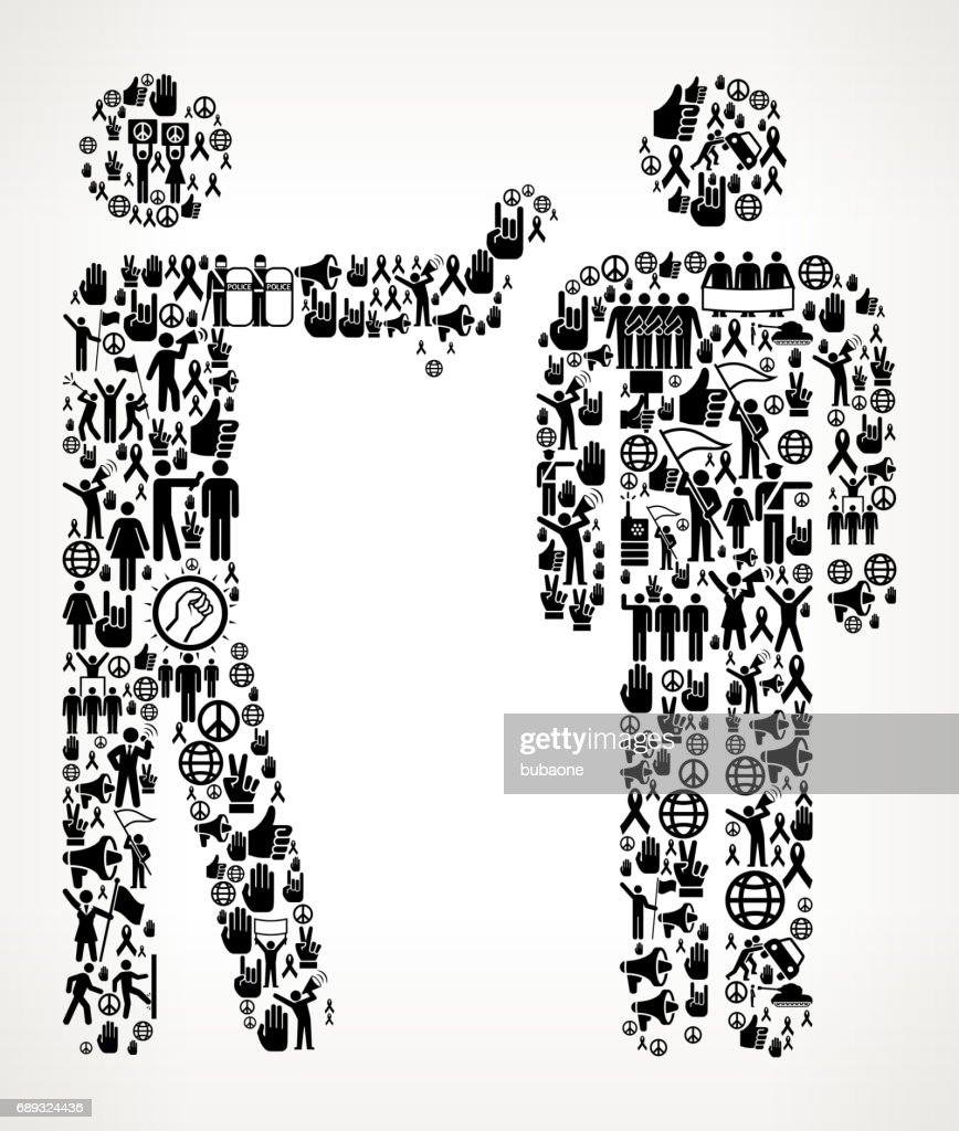 Interview  Protest and Civil Rights Vector Icon Background : Stock Illustration
