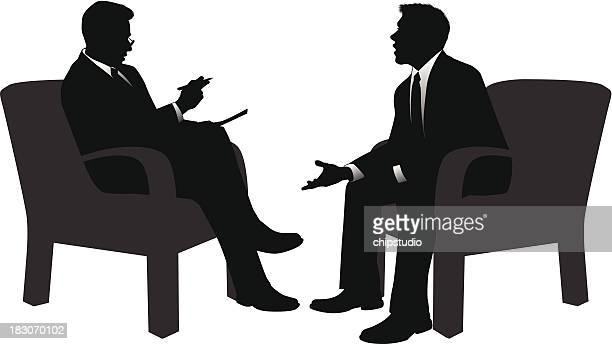 interview - job interview stock illustrations, clip art, cartoons, & icons