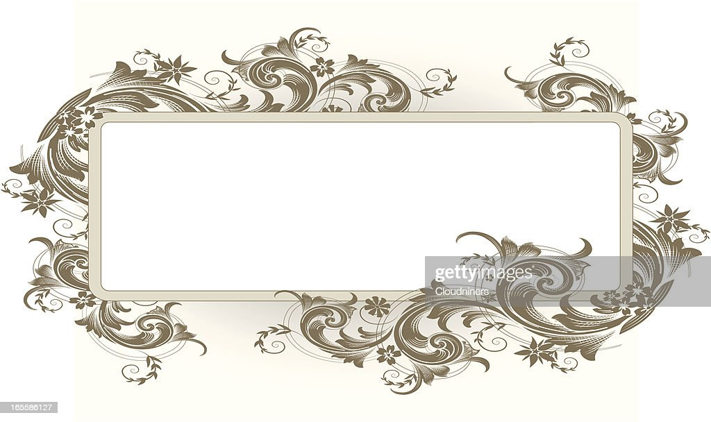 intricate scroll banner vector art getty images