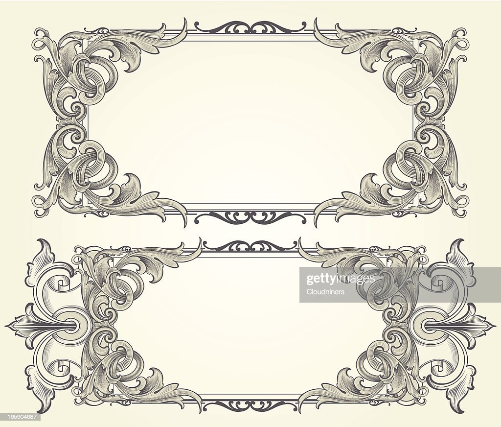 Intricate Vector Engraved Frames