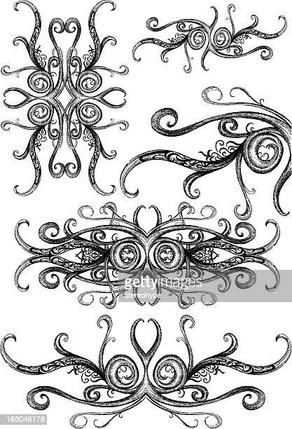 intricate vectorian ornaments