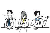 Introvert office worker