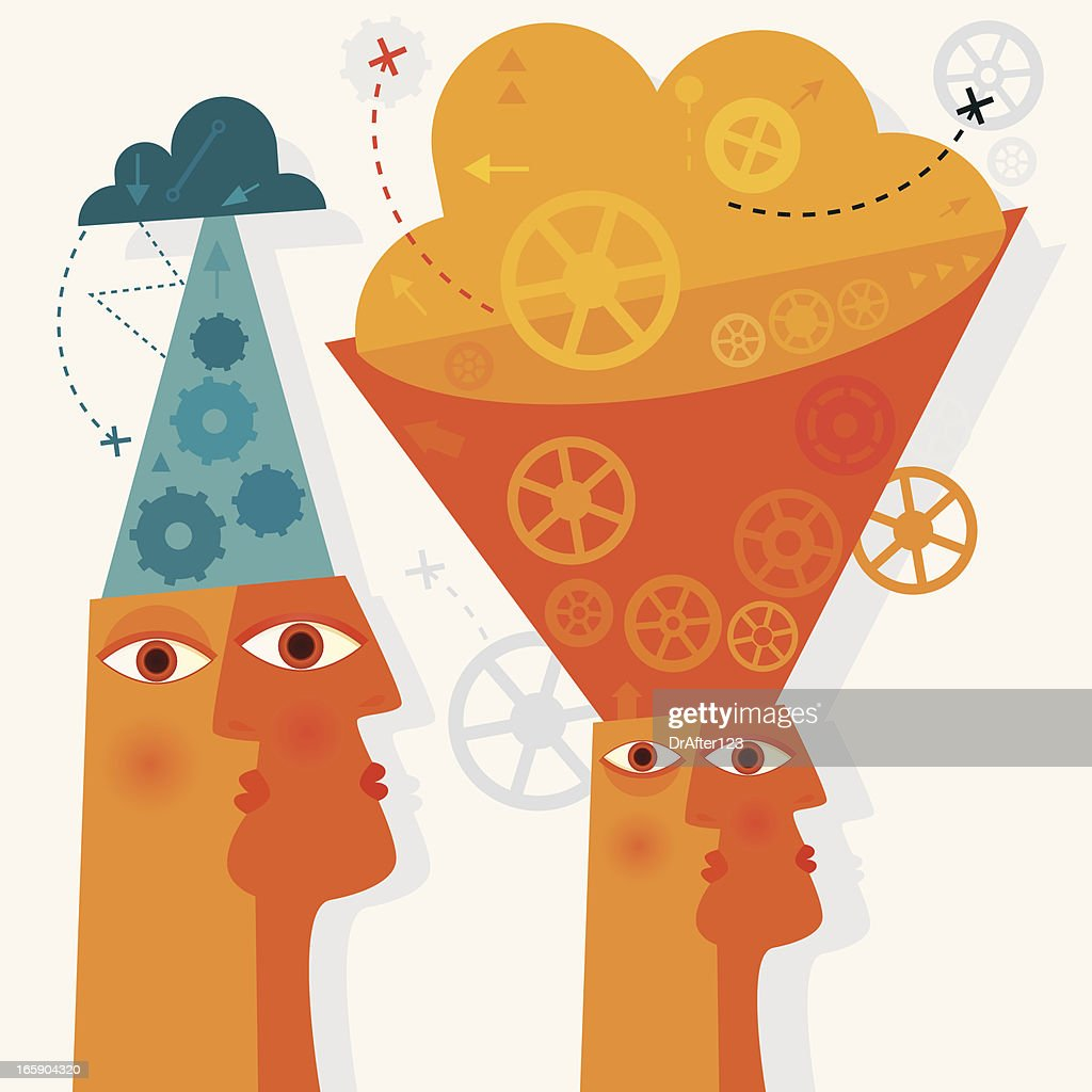 Introverted And Extroverted Personality : stock illustration