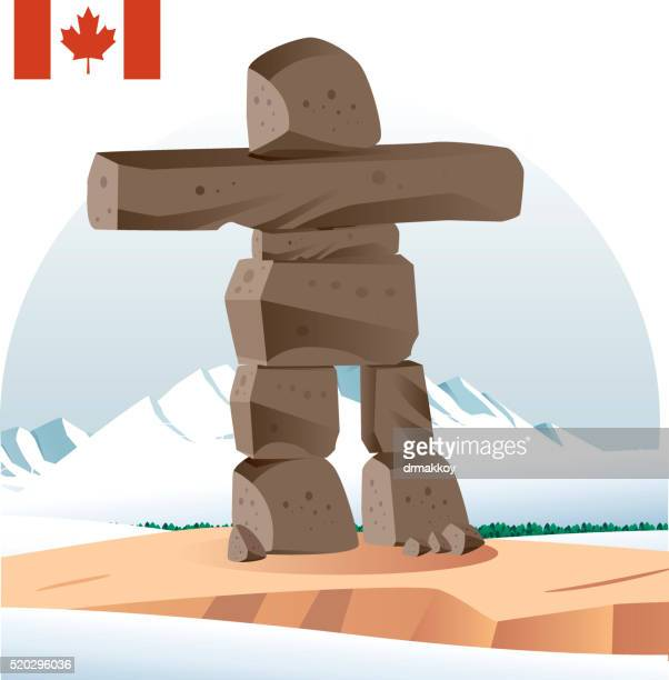 Inuit-Steindenkmal