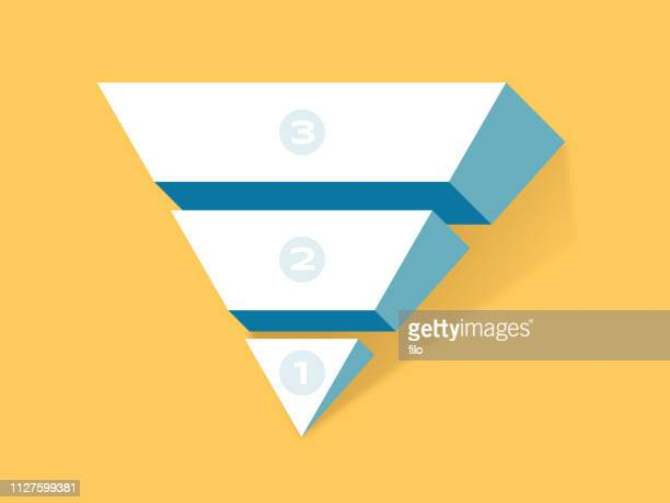 inverted pyramid concept - pyramid stock illustrations