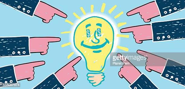 Invertir en ideas brillantes
