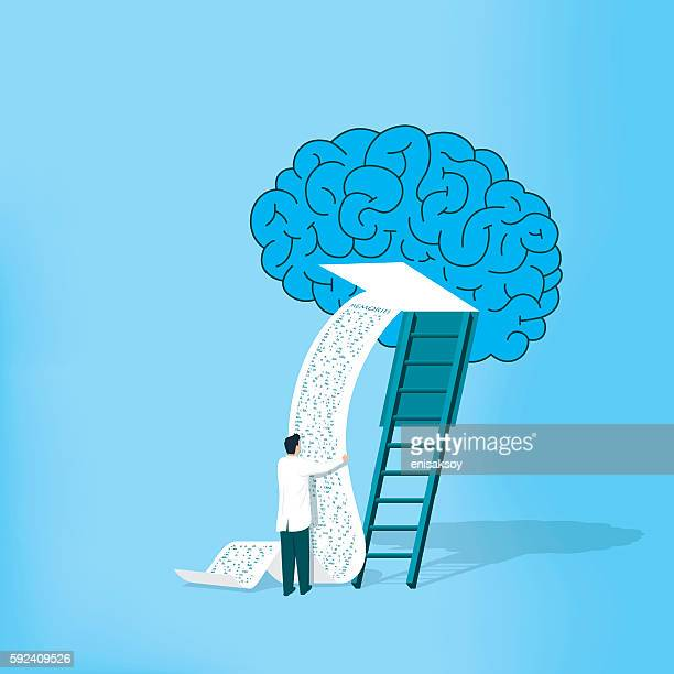 investigating alzheimer - cancer illness stock illustrations, clip art, cartoons, & icons