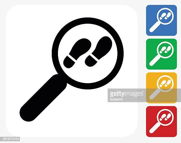 ilustraciones, imágenes clip art, dibujos animados e iconos de stock de investigar iconos planos de diseño gráfico - detective