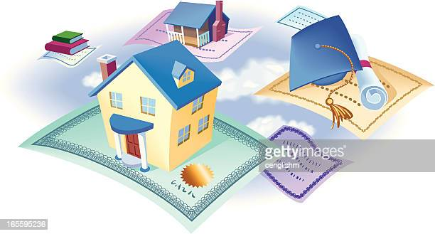 将来に投資 - 証書点のイラスト素材/クリップアート素材/マンガ素材/アイコン素材