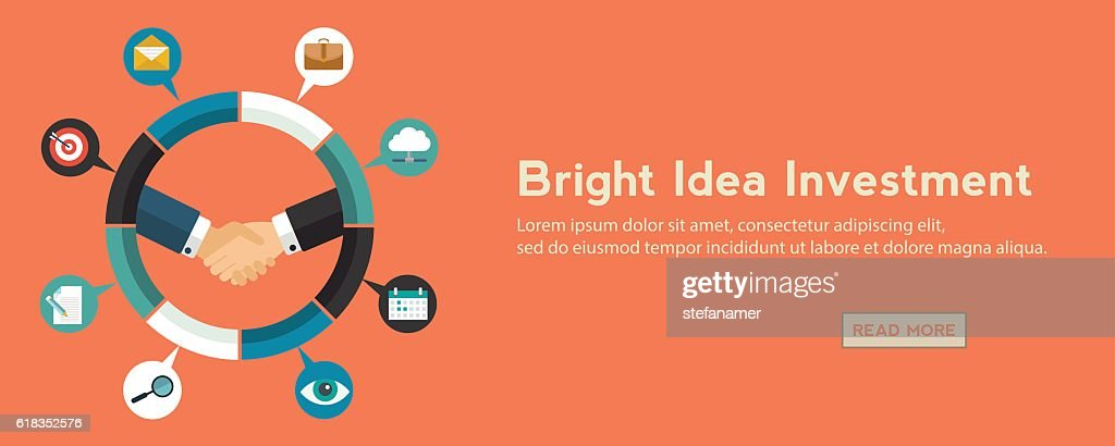Investing into ideas isolated on bright background