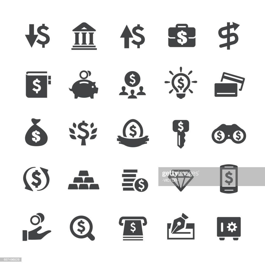 Investimento e dinheiro ícones - série Smart : Ilustração