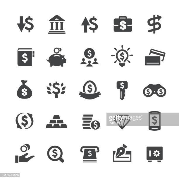 investment and money icons - smart series - dollar sign stock illustrations, clip art, cartoons, & icons