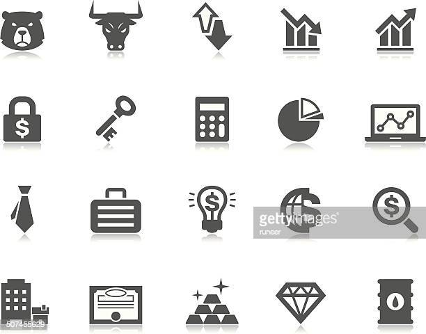 investment & finance icons | pictoria series - stock certificate stock illustrations