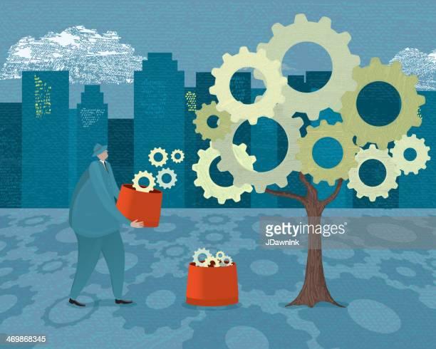 投資成長と、収入事業収益利回り