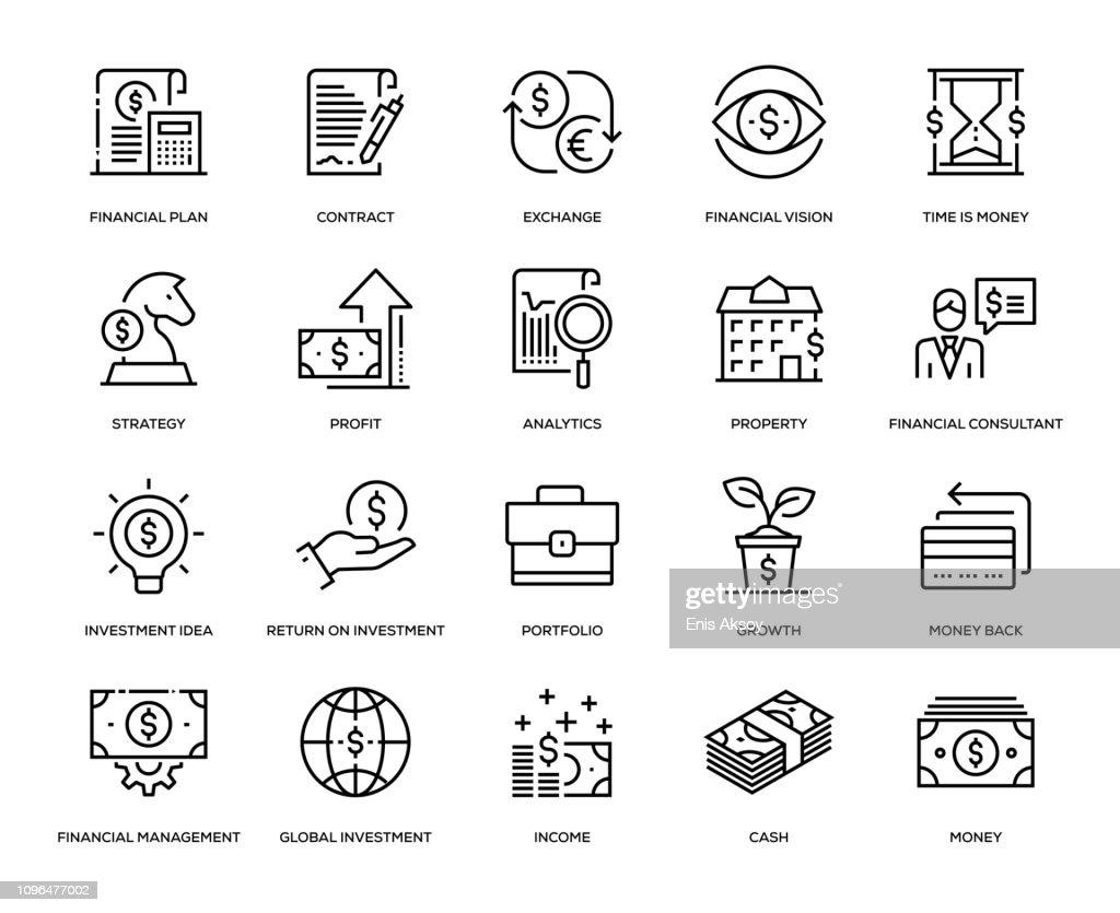 Investeringen Icon Set : Stockillustraties