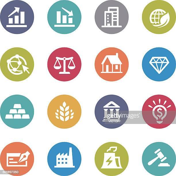 ilustraciones, imágenes clip art, dibujos animados e iconos de stock de iconos de inversión-serie circle - balanzas de la justicia