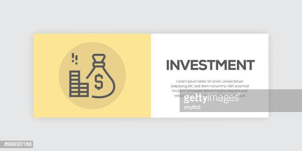Investment Line Infographic Web Banner