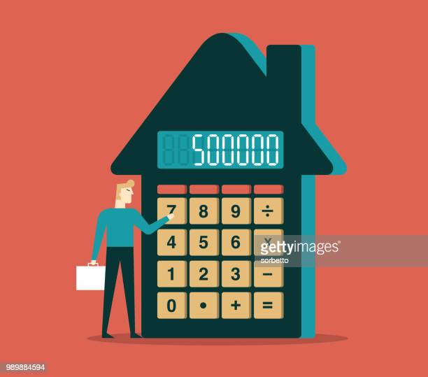 investment plan - estate agent sign stock illustrations