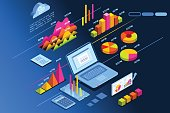 Investment planner isometric icon