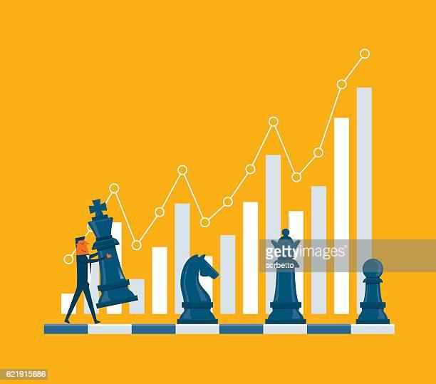 投資戦略 - チェス点のイラスト素材/クリップアート素材/マンガ素材/アイコン素材